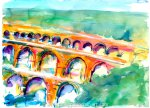 Pont Du Gard from the Left Bank